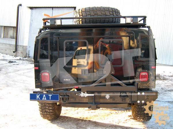 Багажник экспедиционный алюминиевый KDT для Hummer H1