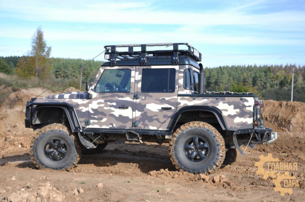 Багажник экспедиционный алюминиевый KDT для Land Rover Defender 90 пикап
